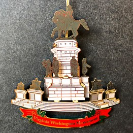 The fourth Annual Ornament introduced in 2015, features the George Washington Equestrian Monument.