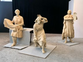 Preliminary casts of the statutes before their bronzing