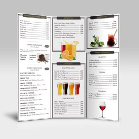 diseño de carta para restaurante