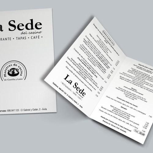 diseño de cartas menu para restaurante