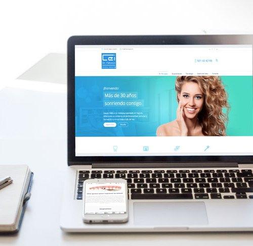 diseno web clinica dental