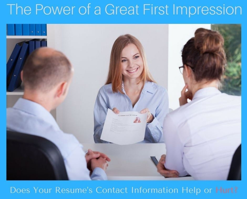 resume writing services Archives   Virginia Franco ResumesVirginia     The Power of a Great First Impression     Does Your Resume s Contact  Information Help or Hurt