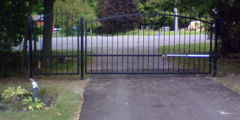 12 Foot Driveway Gate with pedestrian gate