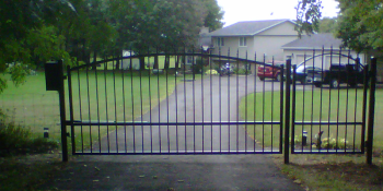 Driveway Gate with pedestrian gate