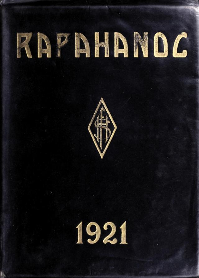 1921 Rappahanoc Yearbook, Fredricksburg High School, Fredricksburg, Virginia