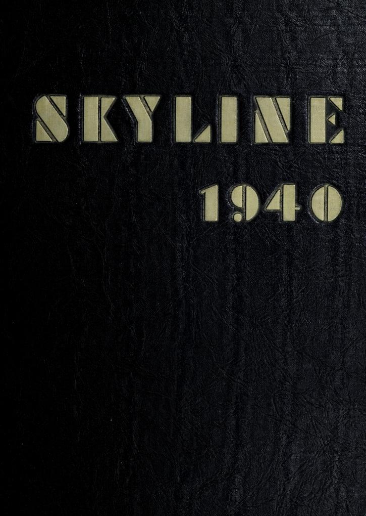1940 The Skyline, Waynesboro High School, Waynesboro, Virginia