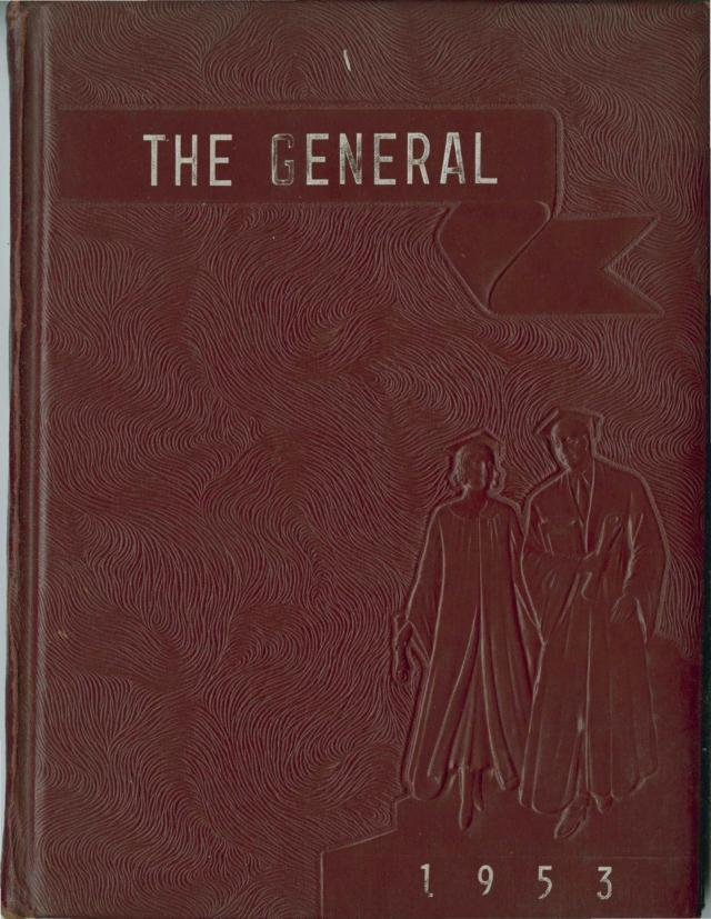 1953 The General Yearbook, William Campbell High School, Naruna, Campbell County, Virginia