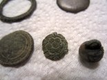 Colonial pewter button