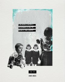 DIANE ARBUS. Collage_papel verjurado blanco roto_30x24cm/18x13cm. V. Rivas. #ForSale