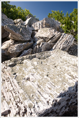 The rocks on the Turk Mountain summit are different.