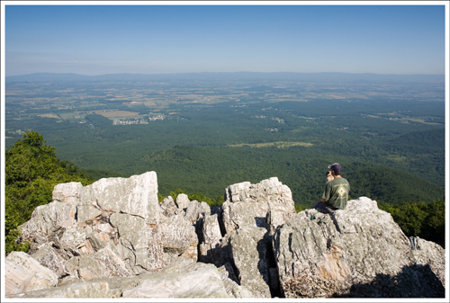 Wookie and Adam enjoy the summit of Turk Mountain.
