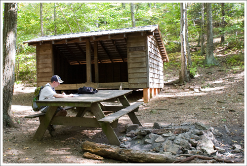 The Cow Camp Gap Shelter
