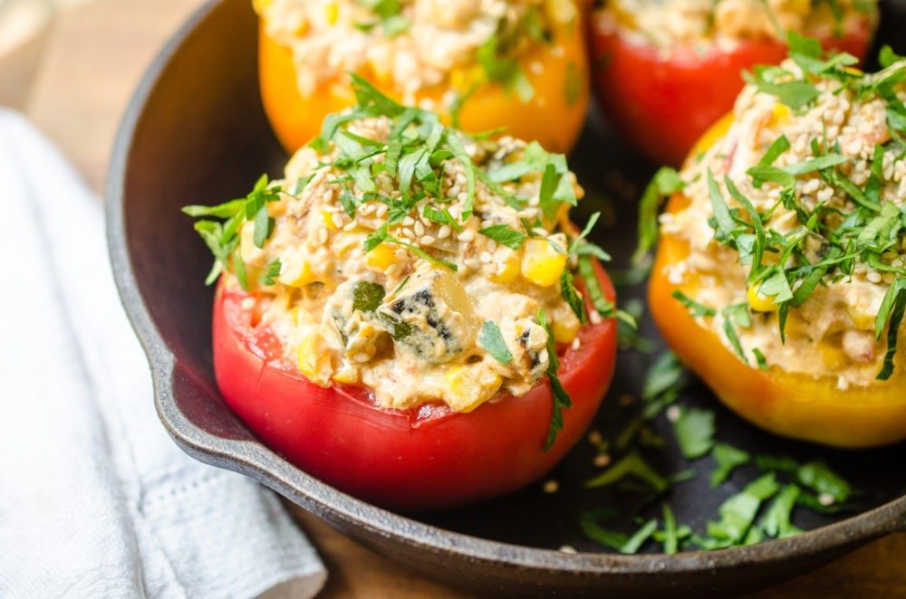 Summer Vegetable Stuffed Tomato