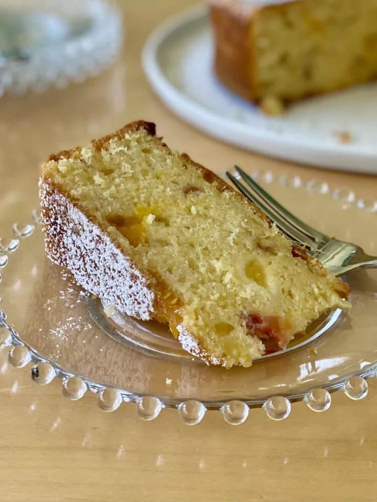 One Bowl Peaches and Cream Cake