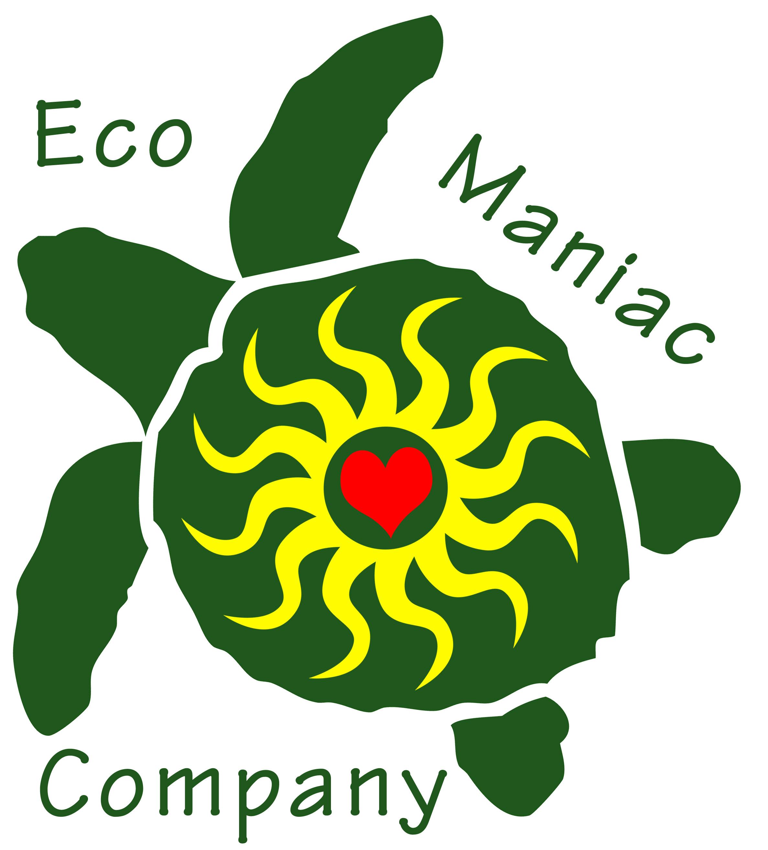 Eco Maniac logo of sea turtle