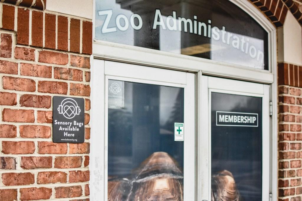 Zoo administrative building doors