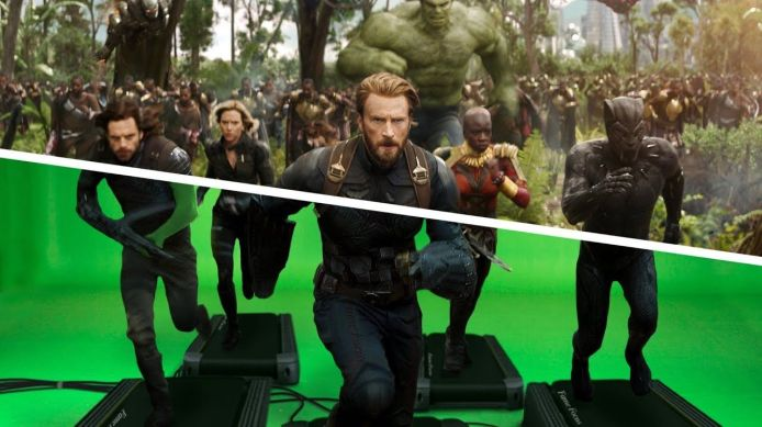 Scena di green screen tratta da avengers