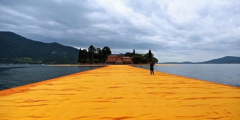 Il percorso verso l'isola di San Paolo (photo credits: Filippo Monteforte/AFP/Getty Images)