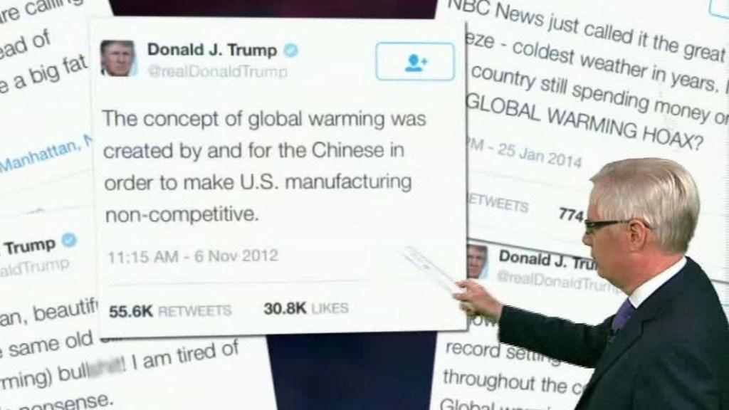 trump tweets climate change