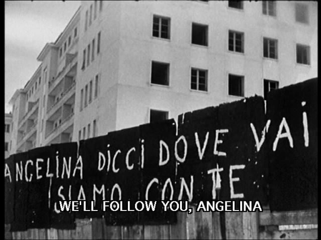 """I palazzi di Via Val Chisone ancora da terminare che ne """"L'onorevole Angelina"""" vengono occupati e che indirettamente spingeranno angelina (Anna Magnani) a fare un'esperienza in politica"""