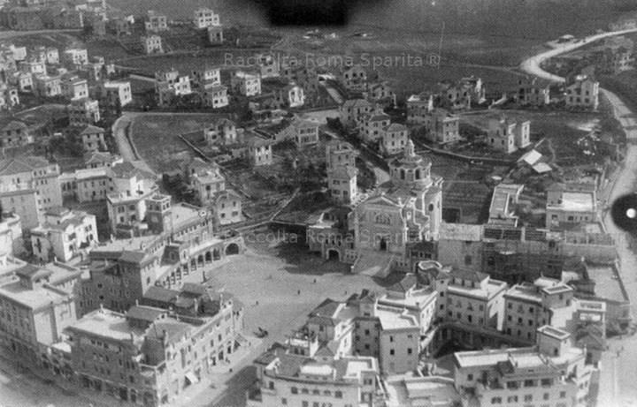 Un'immagine d'epoca che mostra come appariva la Città Giardino Aniene prima della Seconda Guerra Mondiale (photo credits: romasparita.eu)