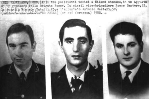 8 gennaio 1980: le BR uccidono gli agenti Rocco Santoro, Michele Tatulli e Antonio Cestari