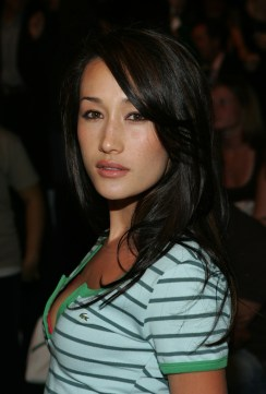 NEW YORK - SEPTEMBER 10: Model/actress Maggie Q poses in the front row at the Lacoste Spring 2006 fashion show during Olympus Fashion Week at Bryant Park September 10, 2005 in New York City. (Photo by Thos Robinson/Getty Images)