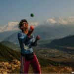 Nepal Sarankot the Himalayas