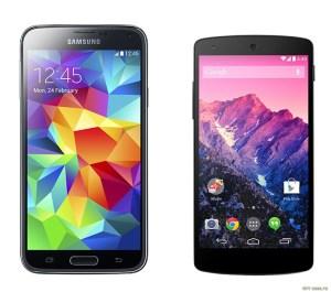 Google Nexus 5 и Samsung S5