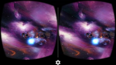 VR Cosmic Roller Coaster screen