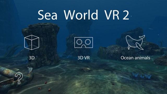 Стартовое меню игры Sea World VR2