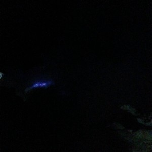 Blue Fire dari puncak Ijen, tidak tertangkap kamera hp :)