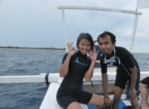 after first dive in Gili