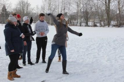 Täpsusvise lumepallidega