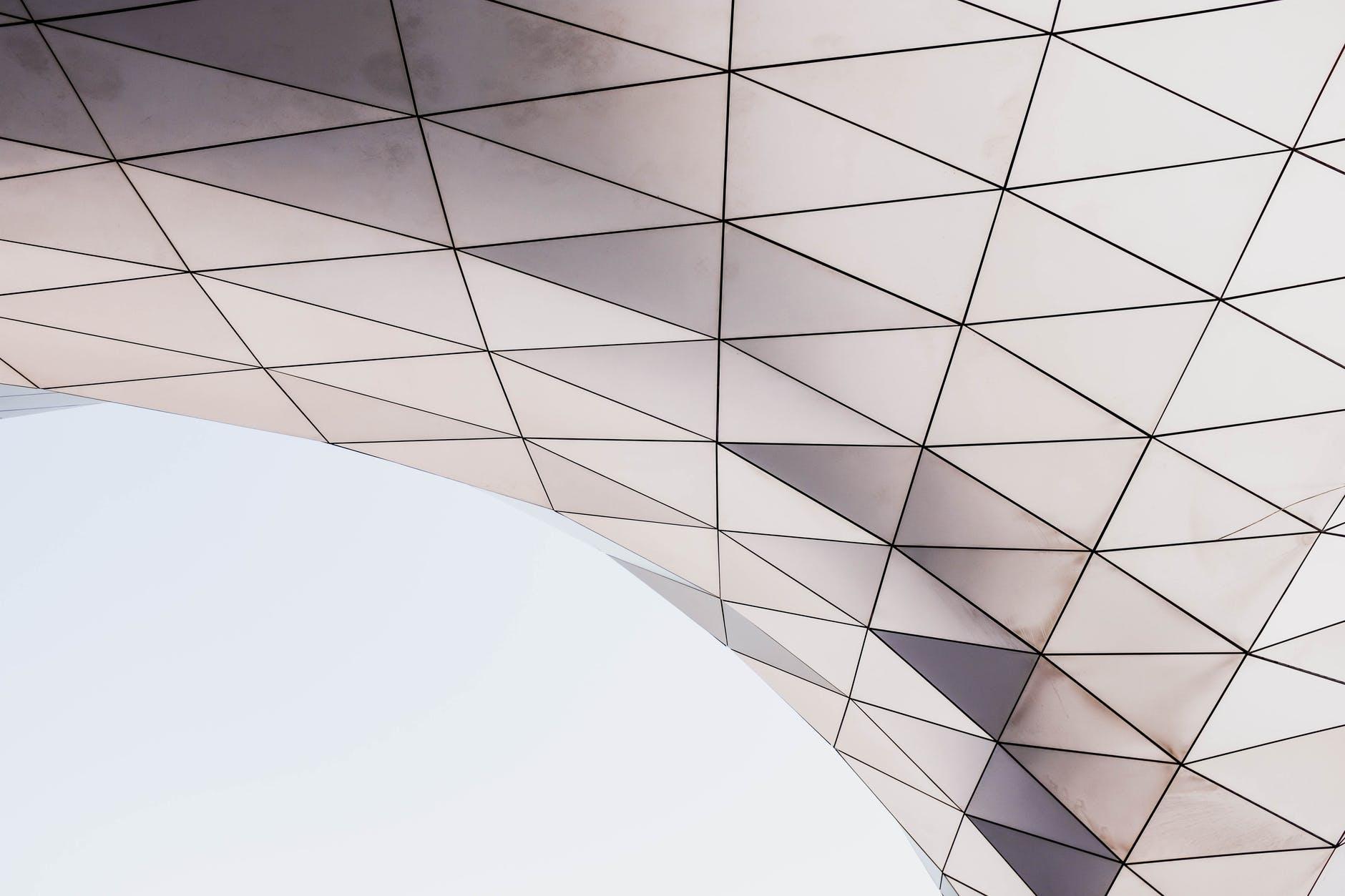 photo of triangle shape digital wallpaper