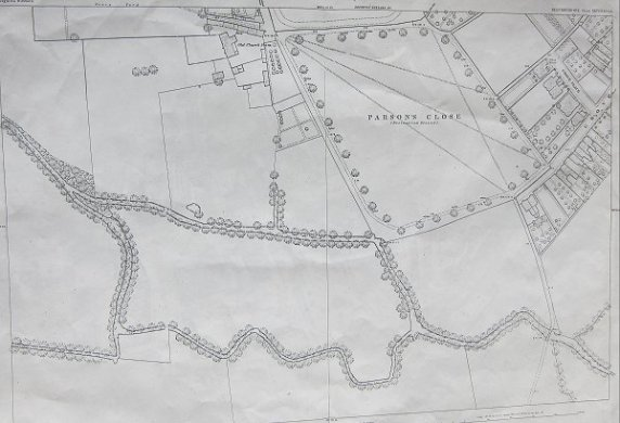 Leighton Buzzard Maps  1880   OS Map   xxviii 10 24   Digitised     Map showing Parsons Close area