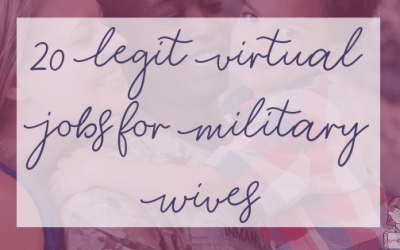 20 Legit Virtual Jobs for Military Wives