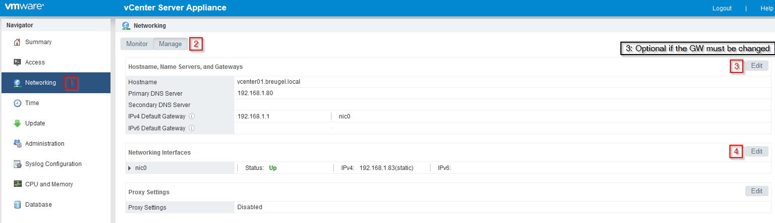 How to change vCenter and vSphere IP Address ( embedded PSC
