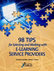 98 Tips for Selecting and Working with E-Learning Service Providers Booklet Icon