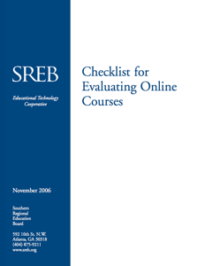 Checklist for Evaluating Online Courses Icon - SREB