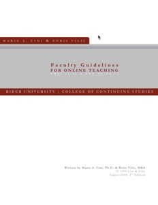 Faculty Guidelines For Online Teaching Book Icon