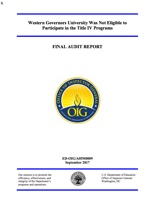 Western Governors University Audit Final Report • Virtual Chalkdust