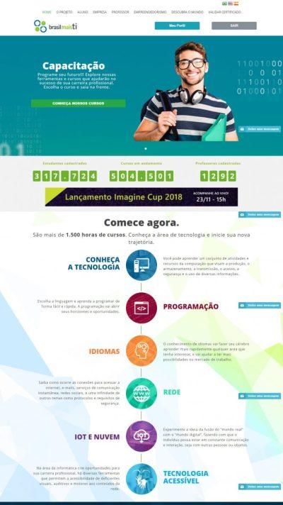 Brasil Mais TI sitio web