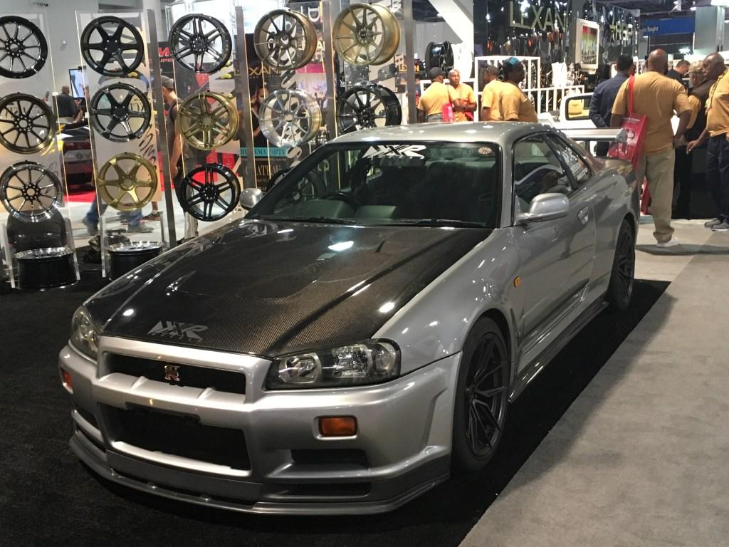 Silver Nissan R34 Skyline GT-R