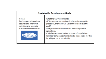 Goal 2 of the then proposed- Sustainable Development Goals