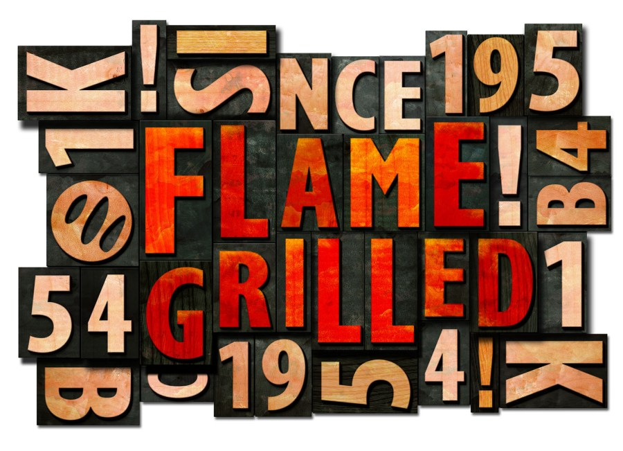 BK woodblocks flamegrilled