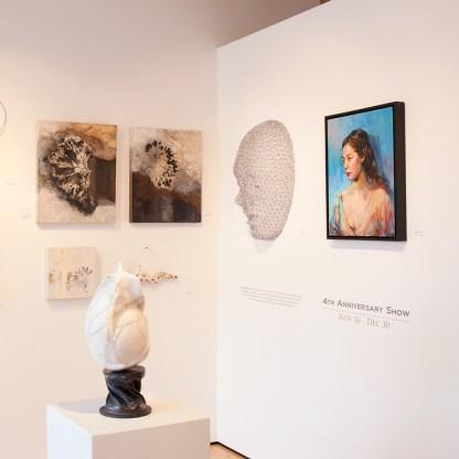 Paintings by Carol Bajen-Gahm, Installation View at Sivarulrasa Gallery in Almonte, Ontario