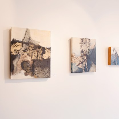 Painting by Carol Bajen-Gahm, Installation View at Sivarulrasa Gallery