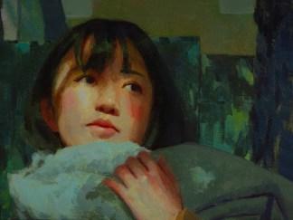 Painting by Caroline Ji at Sivarulrasa Gallery