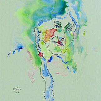 Painting by David Kearn at Sivarulrasa Gallery